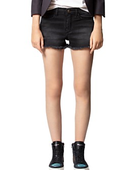 Zadig & Voltaire - Storm Grunge Denim Shorts in Black