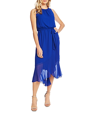 Vince Camuto Ruffle Belted Midi Dress - 100% Exclusive In Electric Blue