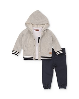 7 For All Mankind - Boys' Bomber Hoodie, Tee & Jogger Pants Set - Little Kid