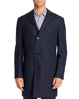 Cardinal Of Canada - Herringbone Regular Fit Topcoat