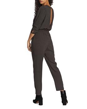 1.STATE - Printed V-Neck Jumpsuit