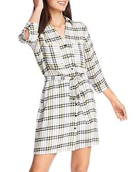 1.STATE - Plaid Shirt Dress