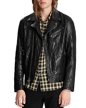 John Varvatos Collection - Asymmetrical Slim Fit Leather Jacket