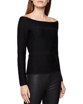 REISS - Marissa Textured Off-the-Shoulder Top