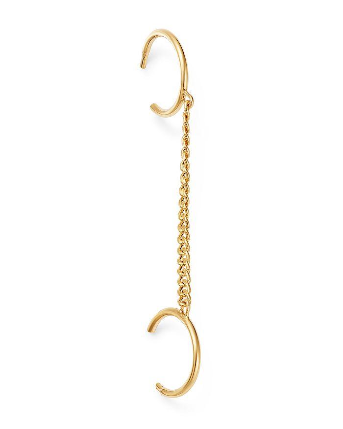 Zoë Chicco - 14K Yellow Gold Chain Huggie Earrings