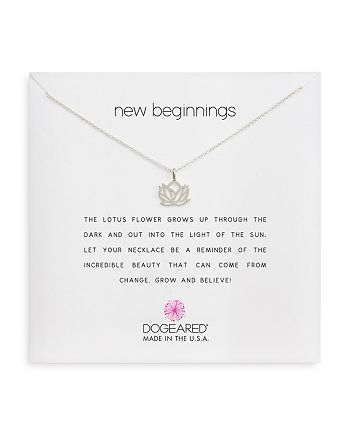 Dogeared - New Beginnings Pendant Necklace, 18""