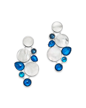 Ippolita Sterling Silver Wonderland Chandelier Earrings with Mother-of-Pearl Doublet in Blue Moon
