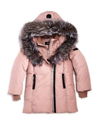 Girls' Leelee Fur Trimmed Classic Down Coat   Little Kid by Mackage