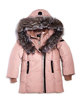 Mackage - Unisex Leelee Fur-Trimmed Classic Down Coat - Big Kid