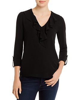 KARL LAGERFELD Paris - Ruffled V-Neck Top