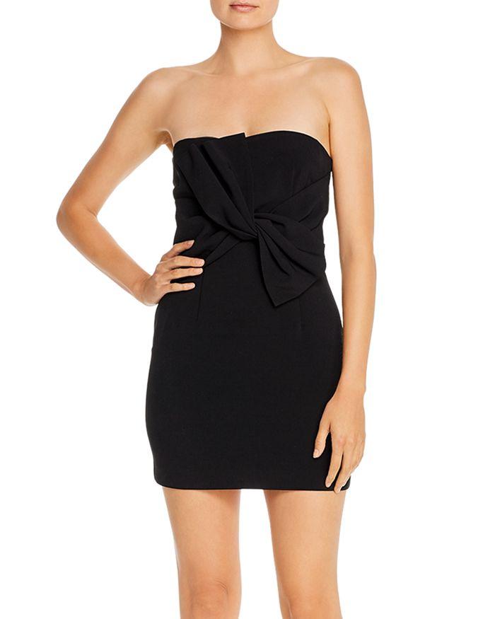 LIKELY - Araya Strapless Twist-Detail Mini Dress