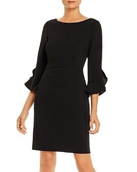KARL LAGERFELD PARIS - Bell-Sleeve Scuba Dress