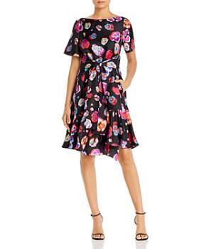 Armani - Silk Floral Print Dress