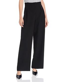 AQUA - Pleated-Waist Wide-Leg Pants - 100% Exclusive