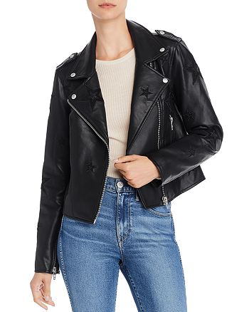 BLANKNYC - Star Faux Leather Biker Jacket