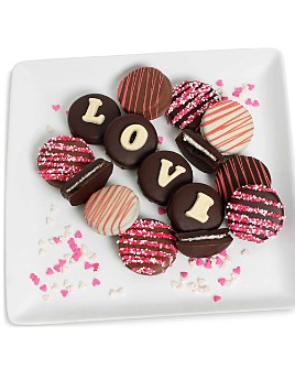 "Chocolate Covered Company - ""LOVE"" Belgian Chocolate Covered Sandwich Cookies, 12 Piece"