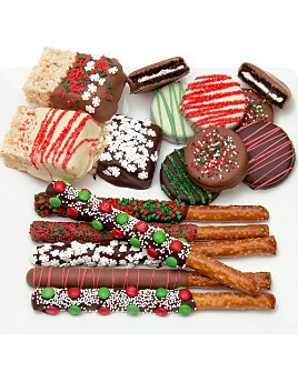Chocolate Covered Company - 15-Piece Belgian Chocolate Covered Holiday Sampler
