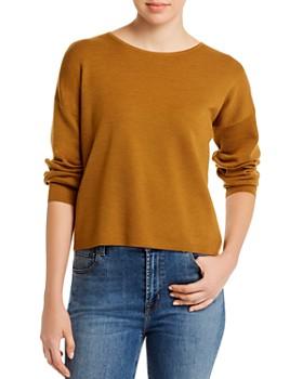 Eileen Fisher - Merino Wool Wide-Crewneck Sweater