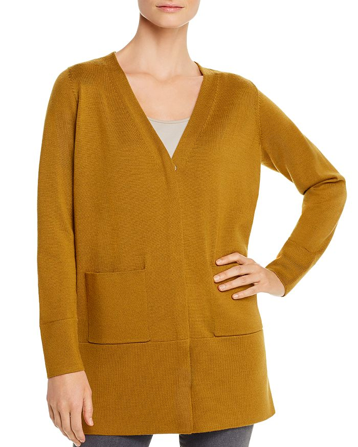 Eileen Fisher - Merino Wool V-Neck Cardigan - 100% Exclusive