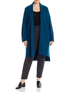 Eileen Fisher Plus Wool Relaxed Open-Front Coat