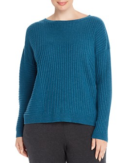Eileen Fisher Plus - Ribbed Cashmere Sweater