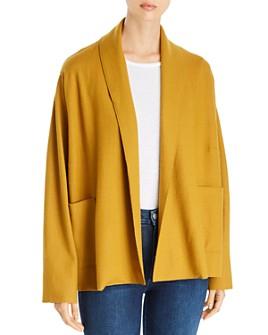 Eileen Fisher Petites - Wool Shawl-Collar Jacket