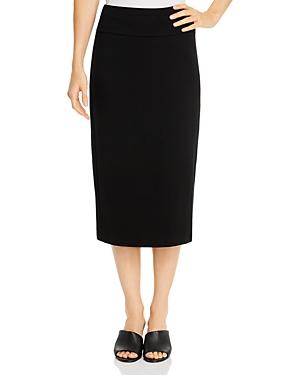 Eileen Fisher Midi Pencil Skirt In Black