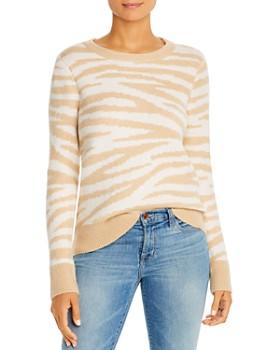 Design History - Zebra Print Crewneck Sweater