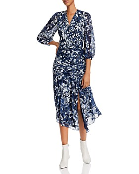 Shoshanna - Sonoma Floral-Print Ruched Calynda Dress