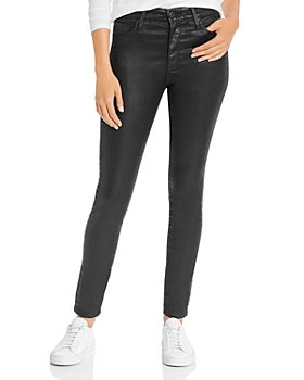 AG - Farrah Faux-Leather Skinny Jeans