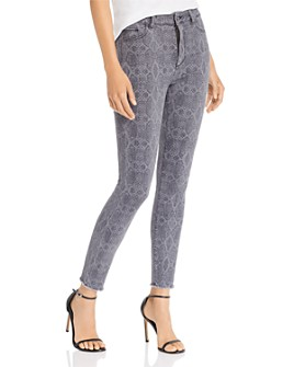 DL1961 - Farrow High Rise Printed Skinny Jeans in Copperhead - 100% Exclusive