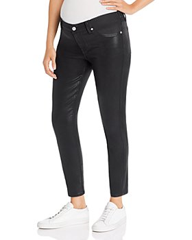 7 For All Mankind - Skinny Maternity Jeans in B(air) Black Coated