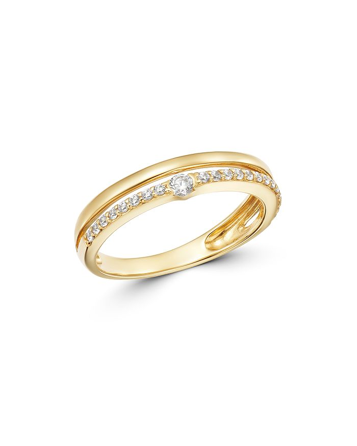 Bloomingdale's - Diamond Double-Row Band in 14K Yellow Gold, 0.20 ct. t.w. - 100% Exclusive