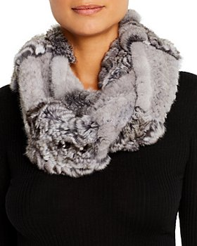 Maximilian Furs - Chinchilla & Mink Fur Infinity Scarf - 100% Exclusive
