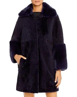 Maximilian Furs - Rabbit Fur-Cuff Shearling Jacket - 100% Exclusive