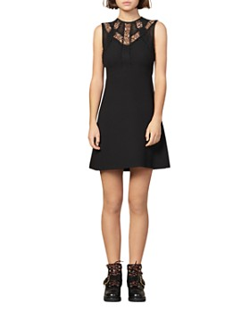 Sandro - Enna Fit-and-Flare Mini Dress