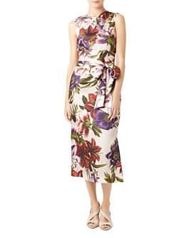 HOBBS LONDON - Thao Belted Floral Dress