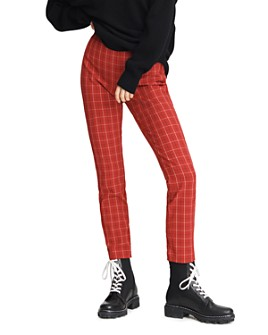 rag & bone - Simone Plaid High-Waisted Ankle Pants