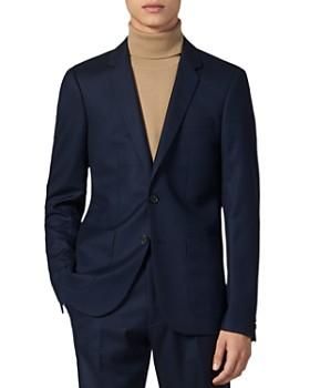 Sandro - Notch Flannel 120's Slim Fit Suit Jacket