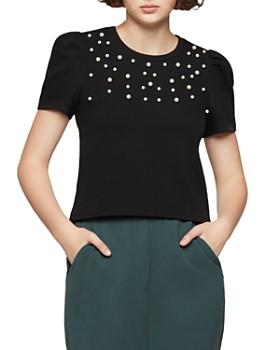 BCBGENERATION - Embellished Puff-Sleeve Sweater