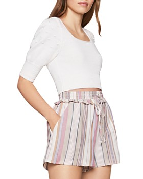 BCBGENERATION - Puff-Sleeve Cropped Sweater