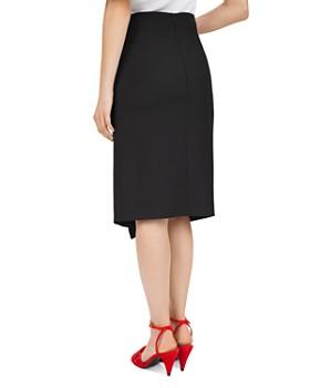 Gerard Darel - Asymmetric Buttoned Tea Skirt