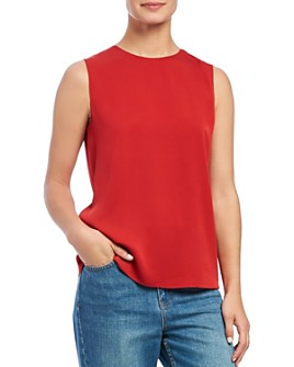 Theory - Sleeveless Silk Stretch Top
