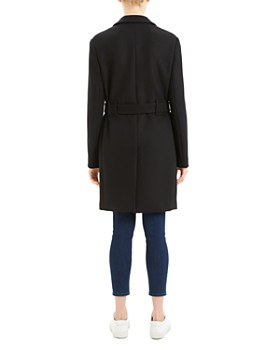 Theory - Belted Long Peacoat
