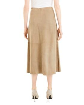 Theory - Leather Midi Skirt