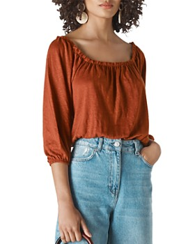 Whistles - Linen Square-Neck Top