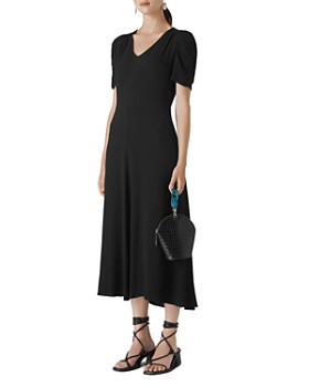 Whistles - Jolanta Puff Sleeve Midi Dress