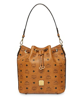 MCM - Visetos Crossbody Bucket Bag