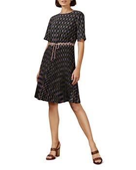 Ted Baker - Lloydii Geometric Print Drawstring Dress