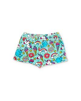 Candy Pink - Girls' Sprinkles & Unicorns Pajama Shorts - Little Kid, Big Kid